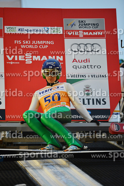 21.11.2014, Vogtland Arena, Klingenthal, GER, FIS Weltcup Ski Sprung, Klingenthal, Herren, HS 140, Qualifikation, im Bild Anssi Koivuranta (FIN) // during the mens HS 140 qualification of FIS Ski jumping World Cup at the Vogtland Arena in Klingenthal, Germany on 2014/11/21. EXPA Pictures &copy; 2014, PhotoCredit: EXPA/ Eibner-Pressefoto/ Harzer<br /> <br /> *****ATTENTION - OUT of GER*****
