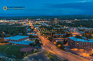 Looking down from the Rimrocks in Billings, Montana, USA
