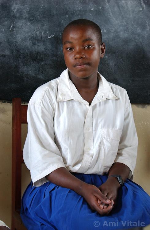 Shinyanga, Tanzania, October 2, 2003: Children study at Waleza Primary school  October 02, 2003 in Shinyanga District, Tanzania. (Photo by Ami Vitale)