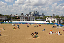 Overview Jumping arena<br /> CIC2* Greenwich Park Eventing Invitational<br /> Olympic Test Event - London 2011<br /> © Dirk Caremans