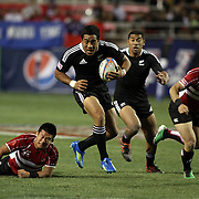 NZ 7's Johnathan Malo scores another second half try versus Japan at the USA Sevens, Las Vegas, Nevada, USA.  Photo by Barry Markowitz, 2/10/12