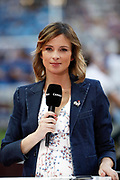 Isabelle Ithurburu journalist for Canal + during the French Championship Top 14 rugby union match between Montpellier Herault rugby and Castres Olympique on June 2, 2018 at Stade de France in Saint-Denis near Paris, France - Photo Stephane Allaman / ProSportsImages / DPPI