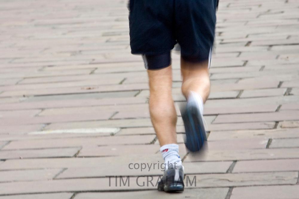 Runner in London, England, United Kingdom