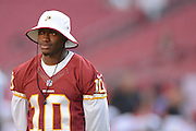 Washington Redskins quarterback Robert Griffin III (10) prior to an NFL preseason game against the Tampa Bay Buccaneers at Raymond James Stadium on Aug. 29, 2013 in Tampa, Florida. <br /> <br /> &copy;2013 Scott A. Miller