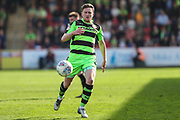 Forest Green Rovers Dayle Grubb(8) runs forward during the EFL Sky Bet League 2 match between Cheltenham Town and Forest Green Rovers at LCI Rail Stadium, Cheltenham, England on 14 April 2018. Picture by Shane Healey.