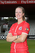 Lancashire Thunders Alice Dyson during the media day for Lancashire Thunder at the Emirates, Old Trafford, Manchester, United Kingdom on 17 July 2018. Picture by George Franks.