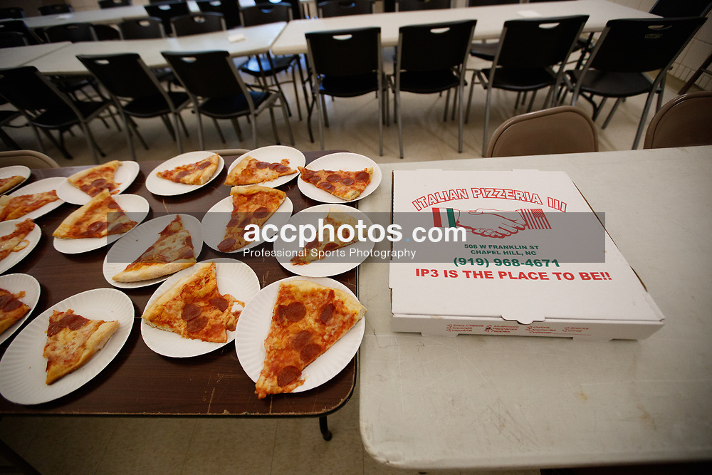 2017 July 08: Angelo Marrone and IP3 Pizza at the Marcus Ginyard basketball camp Chapel Hill Community Day at Hargraves Community Center in Chapel Hill, NC. (Photo by Peyton Williams)
