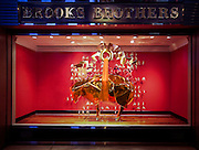 Brook Brothers Chinese new year window display by Booma at the Prince's Building, Central in Hong Kong, February 05th, 2016. Photo by: Moses NG/ illume Visuals