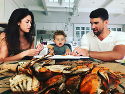 """Michael Phelps releases a photo on Instagram with the following caption: """"Dinner time !!! @mamaphelpsh20 sent us some amazing crabs for my bday!! @jimmysseafood #earlybday #teachhingboom #bmore"""". Photo Credit: Instagram *** No USA Distribution *** For Editorial Use Only *** Not to be Published in Books or Photo Books ***  Please note: Fees charged by the agency are for the agency's services only, and do not, nor are they intended to, convey to the user any ownership of Copyright or License in the material. The agency does not claim any ownership including but not limited to Copyright or License in the attached material. By publishing this material you expressly agree to indemnify and to hold the agency and its directors, shareholders and employees harmless from any loss, claims, damages, demands, expenses (including legal fees), or any causes of action or allegation against the agency arising out of or connected in any way with publication of the material."""