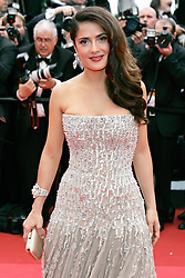 """11.05.2011, Cannes, FRA, Filmfestspiele von Cannes 2011, im Bild Actress Salma Hayek attending the 63rd Annual Cannes Film Festival / Festival de Cannes 2011 - Opening and premiere of """"Midnight in Paris"""" .FESTIWAL FILMOWY W CANNES.PREMIERA FILMU.FOT. EXPA Pictures © 2011, PhotoCredit: EXPA/ EXPA/ Newspix/ Future Images +++++ ATTENTION - FOR AUSTRIA/(AUT), SLOVENIA/(SLO), SERBIA/(SRB), CROATIA/(CRO), SWISS/(SUI) and SWEDEN/(SWE) CLIENT ONLY +++++"""