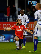 Luke Rooney of Luton Town appeals for a free-kick during the Sky Bet League 2 match at Kenilworth Road, Luton<br /> Picture by David Horn/Focus Images Ltd +44 7545 970036<br /> 19/08/2014