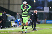 Forest Green Rovers Charlie Cooper(15) during the EFL Sky Bet League 2 match between Yeovil Town and Forest Green Rovers at Huish Park, Yeovil, England on 24 April 2018. Picture by Shane Healey.