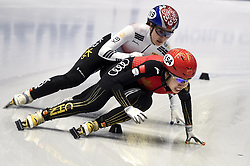 February 8, 2019 - Torino, Italia - Foto LaPresse/Nicolò Campo .8/02/2019 Torino (Italia) .Sport.ISU World Cup Short Track Torino - 500 meter Ladies Heats.Nella foto: Yang Song (destra), Ji Hyun Choi..Photo LaPresse/Nicolò Campo .February 8, 2019 Turin (Italy) .Sport.ISU World Cup Short Track Turin - 500 meter Ladies Premliminaries.In the picture: Yang Song (R), Ji Hyun Choi (Credit Image: © Nicolò Campo/Lapresse via ZUMA Press)