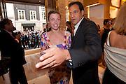 CAMILLA RUTHERFORD; , Louis Vuitton openingof New Bond Street Maison. London. 25 May 2010. -DO NOT ARCHIVE-© Copyright Photograph by Dafydd Jones. 248 Clapham Rd. London SW9 0PZ. Tel 0207 820 0771. www.dafjones.com.