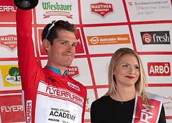 11.07.2019, Kitzbühel, AUT, Ö-Tour, Österreich Radrundfahrt, Siegerehrung der 5. Etappe, von Radstadt nach Fuscher Törl (103,5 km), im Bild Ben Hermans (BEL, Israel Cycling Academy) im roten Flyeralarm Trikot des Gesamtführenden der Österreich Rundfahrt // Ben Hermans of Belgium Team Israel Cycling Academy in the red Flyeralarm overall leaders jersey during the winner ceremony of the 5th stage from Bruck an der Glocknerstraße to Kitzbühel (161,9 km) of the 2019 Tour of Austria. Kitzbühel, Austria on 2019/07/11. EXPA Pictures © 2019, PhotoCredit: EXPA/ Reinhard Eisenbauer