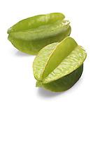 Carambola fruit on white background