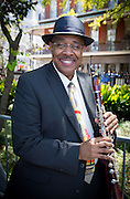 Dr. Michael White in Jackson Square backstage at French Quarter Festival - Friday