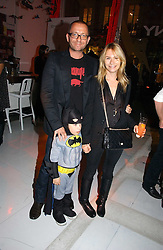 Actor SEAN PERTWEE & the HON.MRS PERTWEE with their son FREDDIE at a party to celebrate the launch of DKNY Kids and Halloween in aid of CLIC Sargent and RX Art held at DKNY, 27 Old Bond Street, London on 31st October 2006.<br />