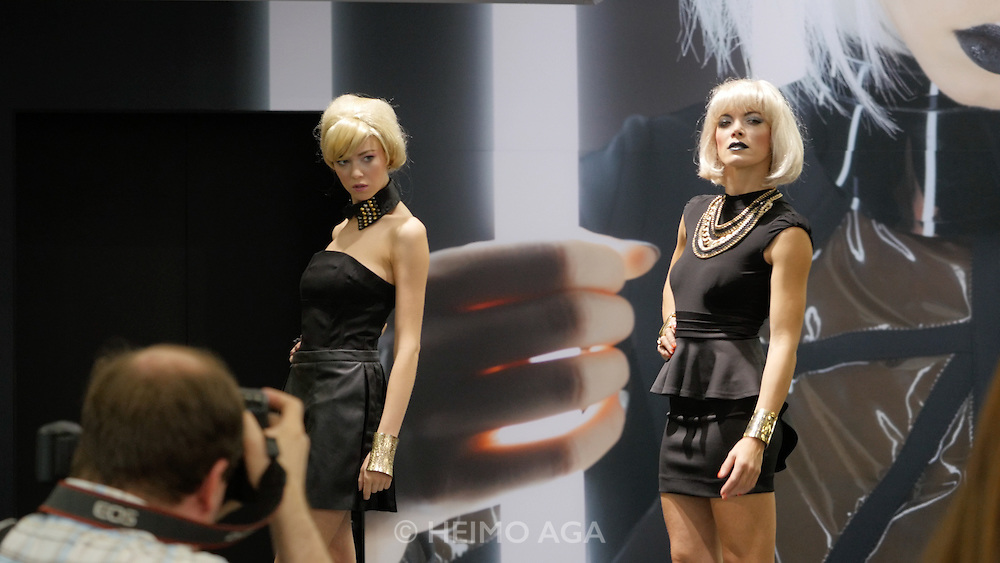 Photokina in Cologne ist the World's biggest bi-annual photo fair. Models.