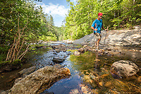 Hiker at Jacks River, Cohutta Wilderness, Chattahoochee National Forest