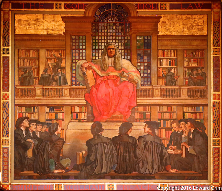 "Violet Oakley's painting  ""Spirit of William Blackstone"" in the Supreme Court chamber of the Pennsylvania capitol in Harrisburg."