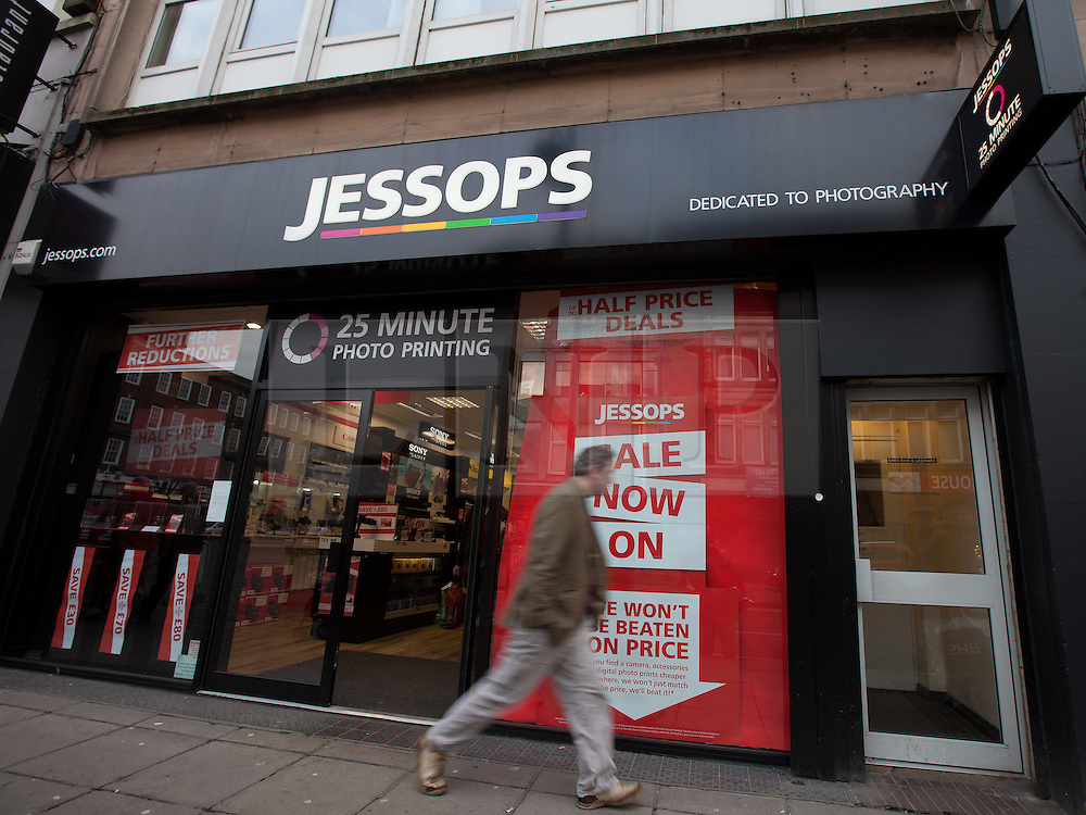 © Licensed to London News Pictures . 11/01/2013 . Belfast , UK . Jessops branch in Belfast , UK today (11th January 2013) as the chain is refusing to honour vouchers purchased by customers against the purchase of new goods . Photo credit : Joel Goodman/LNP.