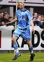WESTERLO 15/04/2005  <br /> SPORT - FOOTBALL - VOETBAL / <br /> KVC WESTERLO - CLUB BRUGGE / <br /> WESTERLO - FC BRUGES / <br /> JOIE - VREUGDE - RUNE LANGE <br />  / PICTURE BY DIGITALSPORT