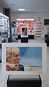 Poland, Cracow - 2017 June 28: Photo Exhibition Big Blue by &copy; Adam Nurkiewicz at Think Tank section in Proclub Store on June 28, 2017 in Cracow, Poland.<br /> <br /> Mandatory credit:<br /> Photo by ProClub Staff<br /> <br /> Adam Nurkiewicz declares that he has no rights to the image of people at the photographs of his authorship.<br /> <br /> Picture also available in RAW (NEF) or TIFF format on special request.<br /> <br /> Any editorial, commercial or promotional use requires written permission from the author of image.