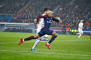 Kylian Mbappe (PSG) runned with the ball faster than Damien DA SILVA (SM Caen) during the French Championship Ligue 1 football match between Paris Saint-Germain and SM Caen on December 20, 2017 at Parc des Princes stadium in Paris, France - Photo Stephane Allaman / ProSportsImages / DPPI