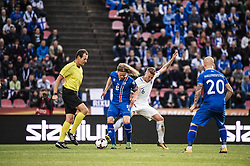 September 2, 2017 - Tampere, Finland - Iceland's Birkir Bjanason and Finland's Alexander Ring fight for the ball during the FIFA World Cup 2018 Group I football qualification match between Finland and Iceland in Tampere, Finland, on September 2, 2017. (Credit Image: © Antti Yrjonen/NurPhoto via ZUMA Press)