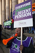 Unison members on the TUC Day of Action 30th November, Sheffield .
