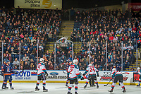 KELOWNA, CANADA - DECEMBER 29:  The Kelowna Rockets line up against the Kamloops Blazers on December 29, 2018 at Prospera Place in Kelowna, British Columbia, Canada.  (Photo by Marissa Baecker/Shoot the Breeze)