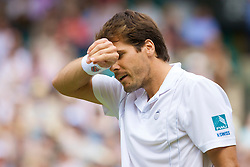 LONDON, ENGLAND - Saturday, June 28, 2008: Tommy Haas (GER) during his third round match on day six of the Wimbledon Lawn Tennis Championships at the All England Lawn Tennis and Croquet Club. (Photo by David Rawcliffe/Propaganda)