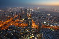 Waiting for sunrise on top of Burj Khalifa
