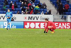 04.02.2012, Rhein Neckar Arena, Hoffenheim, GER, 1. FBL, 1899 Hoffenheim vs FC Augsburg, 20. Spieltag, im Bild Torsten Oehrl (Augsburg #9) nach dem Spiel // during the German Bundesliga Match between 1899 Hoffenheim and FC Augsburg at the Rhein Neckar Arena in Hoffenheim, Germany, 2012/02/04. EXPA Pictures © 2012, PhotoCredit: EXPA/ Eibner/ Ulrich Roth..***** ATTENTION - OUT OF GER *****