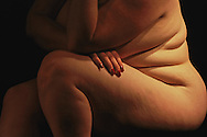 Figure model in a Washington DC art class illustrates American obesity issues