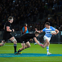 Emiliano Boffelli in action during the Rugby Championship match between the New Zealand All Blacks and Argentina Pumas at Trafalgar Park in Nelson, New Zealand on Saturday, 8 September 2018. Photo: Dave Lintott / lintottphoto.co.nz