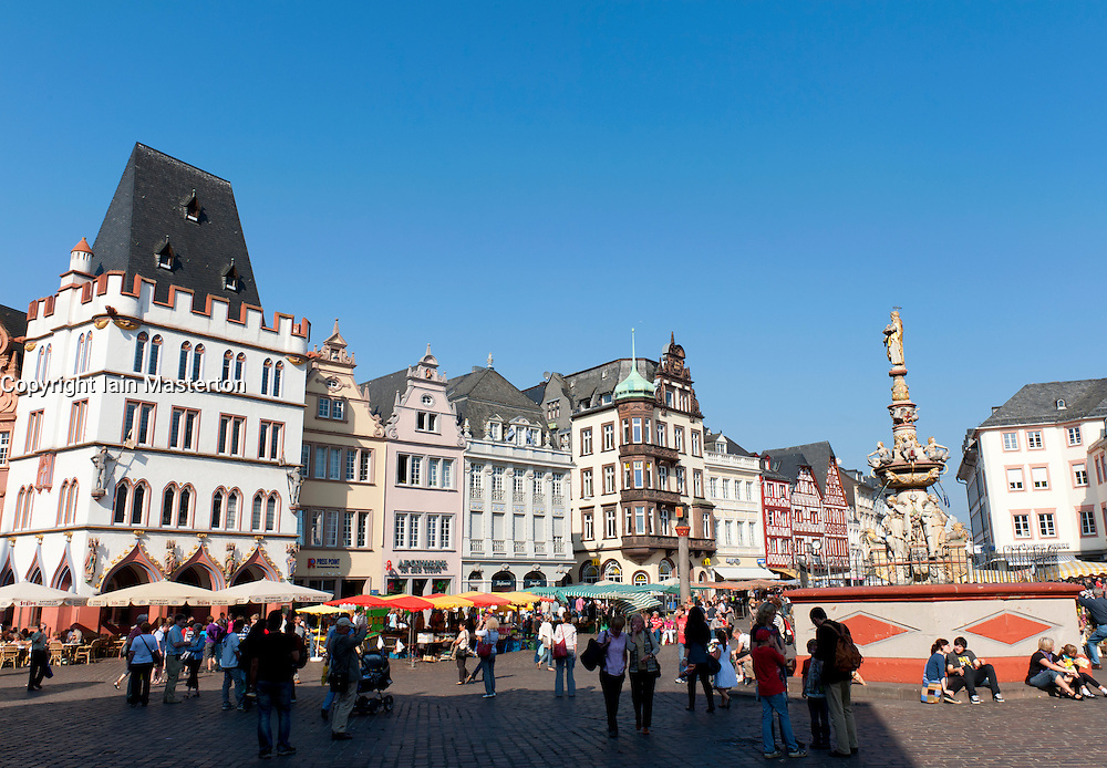 Main Square in Trier Rhineland -Palatinate Germany