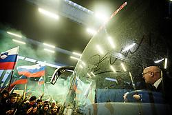 Reception of Slovenian National Handball team bronze medalist from Handball World Cup in France at Slovenian Croatian border on 29th January 2017,  Obrezje, Slovenia. Photo by Grega Valancic / Sportida