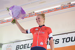 Pernille Mathiesen is awarded the most combative rider at Boels Rental Ladies Tour Stage 4 a 121.4 km road race from Gennep to Weert, Netherlands on September 1, 2017. (Photo by Sean Robinson/Velofocus)