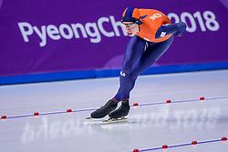 14-02-2018 KOR: Olympic Games day 6, PyeongChang<br /> 10.000 meter schaatsen / Zilver voor Jorrit Bergsma