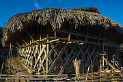 Adi Gallong pole house<br /> Adi Gallong Tribe village<br /> Arunachal Pradesh<br /> North East India