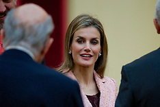 OCT 09 2014 King Felipe & Queen Letizia at the Cervantes Institute
