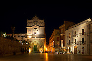 The Baroque facade Syracuse, Sicily, Italy