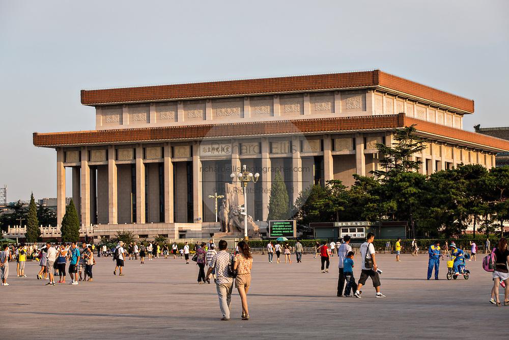 Mao's Mausoleum in Tiananmen Square Beijing, China