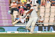 Ravichandran Ashwin of India hits the ball to the boundary for four runs during the 4th day of the 4th SpecSavers International Test Match 2018 match between England and India at the Ageas Bowl, Southampton, United Kingdom on 2 September 2018.