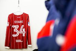 Shirts of Connor Lemonheigh-Evans hang in the Bristol City dressing room - Rogan/JMP - 18/11/2017 - Hillsborough Stadium - Sheffield, England - Sheffield Wednesday v Bristol City - Sky Bet Championship.