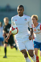 OSLO, NORWAY - Wednesday, August 5, 2009: Liverpool's David Ngog in action against FC Lyn Oslo during a preseason match at the Bislett Stadion. (Pic by David Rawcliffe/Propaganda)