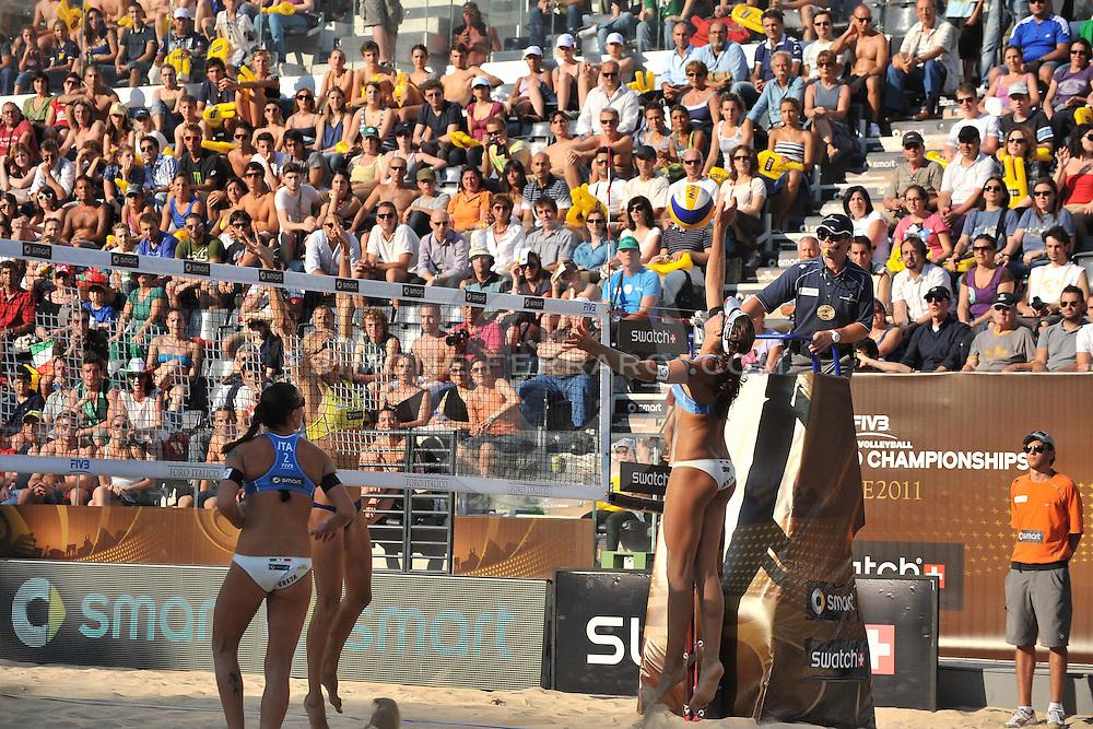 Roma, 16/06/2011..Swatch World Championships Rome2011. Foro Italico..Cicolari-Menegatti ITA vs Vasina-Vozakova RUS.Foto Simone Ferraro - GMT