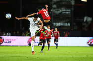NONTHABURI, THAILAND - JULY 09: Teerasil of SCG Muangthong in action during the second half of the Thai League: SCG Muangthong United vs Buriram United at SCG Stadium, Nonthaburi, Thailand on July 09, 2017.<br /> .<br /> .<br /> .<br /> (Photo by: Naratip Golf Srisupab/SEALs Sports Images)<br /> .<br /> Any image use must include a mandatory credit line adjacent to the content which should read: Naratip Golf Srisupab/SEALs Sports Images